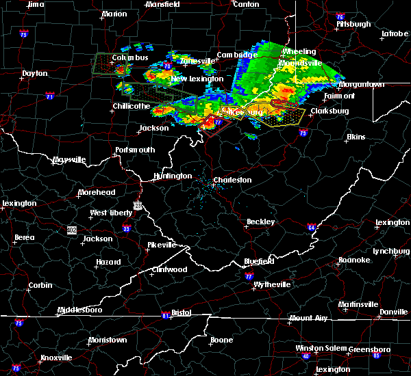 Radar Image for Severe Thunderstorms near Parkersburg, WV at 7/10/2017 6:50 PM EDT