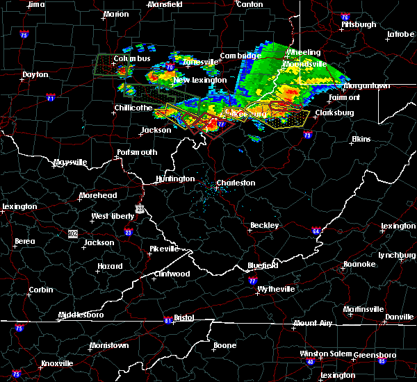 Radar Image for Severe Thunderstorms near Salem, WV at 7/10/2017 6:49 PM EDT