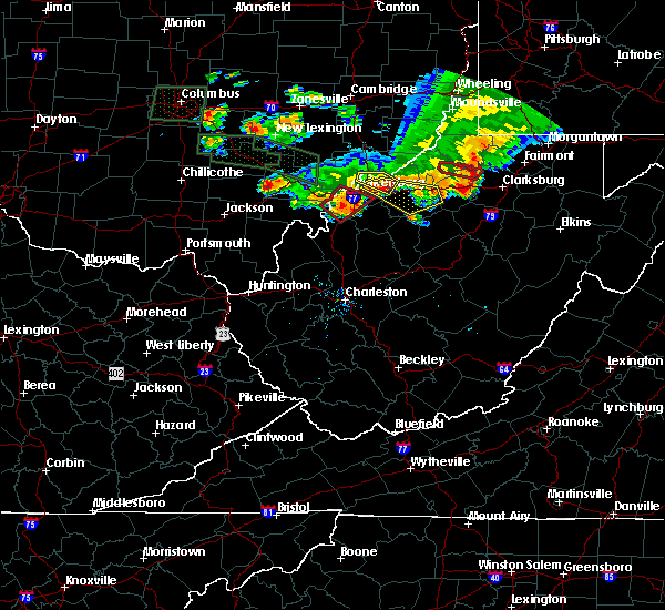 Radar Image for Severe Thunderstorms near Cairo, WV at 7/10/2017 6:58 PM EDT