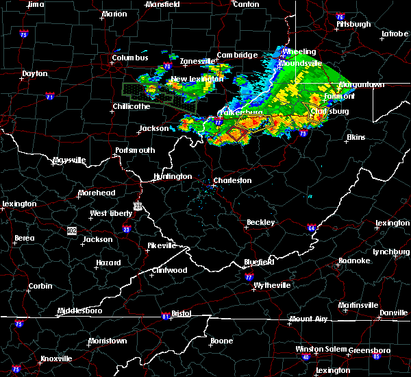 Radar Image for Severe Thunderstorms near Cairo, WV at 7/10/2017 7:26 PM EDT