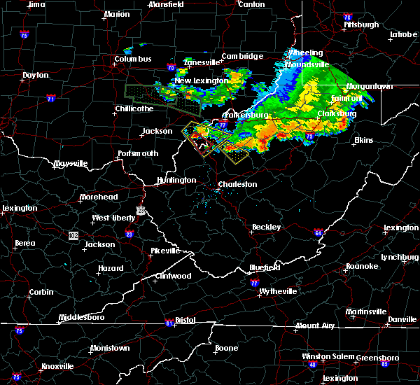 Radar Image for Severe Thunderstorms near Reedy, WV at 7/10/2017 7:43 PM EDT