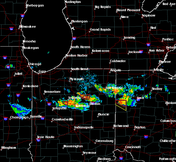 Radar Image for Severe Thunderstorms near Rockford, OH at 7/10/2017 8:32 PM EDT