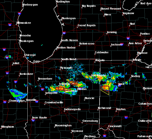 Radar Image for Severe Thunderstorms near Rockford, OH at 7/10/2017 8:39 PM EDT