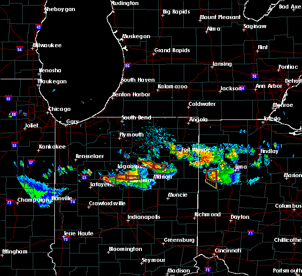 Radar Image for Severe Thunderstorms near Rockford, OH at 7/10/2017 8:49 PM EDT