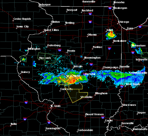 Radar Image for Severe Thunderstorms near Taylor Springs, IL at 7/10/2017 10:31 PM CDT