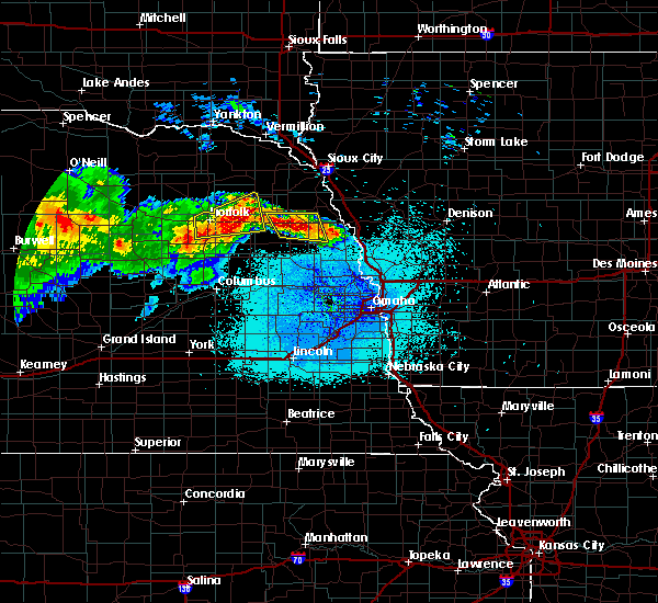 Radar Image for Severe Thunderstorms near Woodland Park, NE at 7/11/2017 12:23 AM CDT