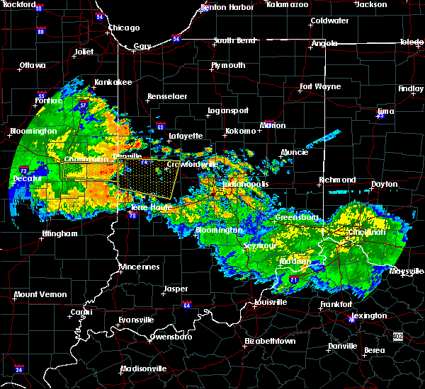 Radar Image for Severe Thunderstorms near Marshall, IN at 7/11/2017 11:32 AM EDT