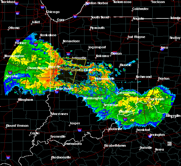 Radar Image for Severe Thunderstorms near Otterbein, IN at 7/11/2017 11:50 AM EDT