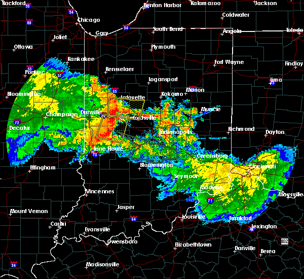 Radar Image for Severe Thunderstorms near Mulberry, IN at 7/11/2017 12:05 PM EDT