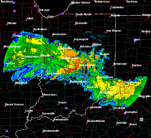Radar Image for Severe Thunderstorms near Indianapolis, IN at 7/11/2017 12:44 PM EDT