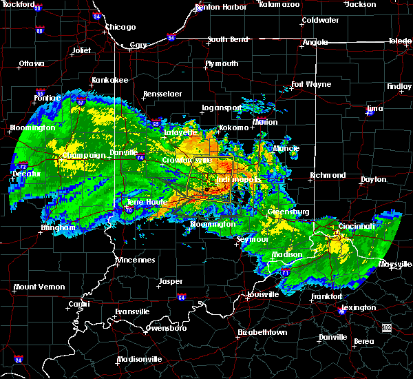 Radar Image for Severe Thunderstorms near Indianapolis, IN at 7/11/2017 12:57 PM EDT