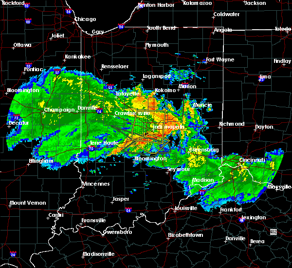 Radar Image for Severe Thunderstorms near Greenfield, IN at 7/11/2017 1:01 PM EDT