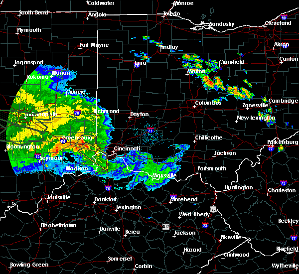 Radar Image for Severe Thunderstorms near Cincinnati, OH at 7/11/2017 2:22 PM EDT