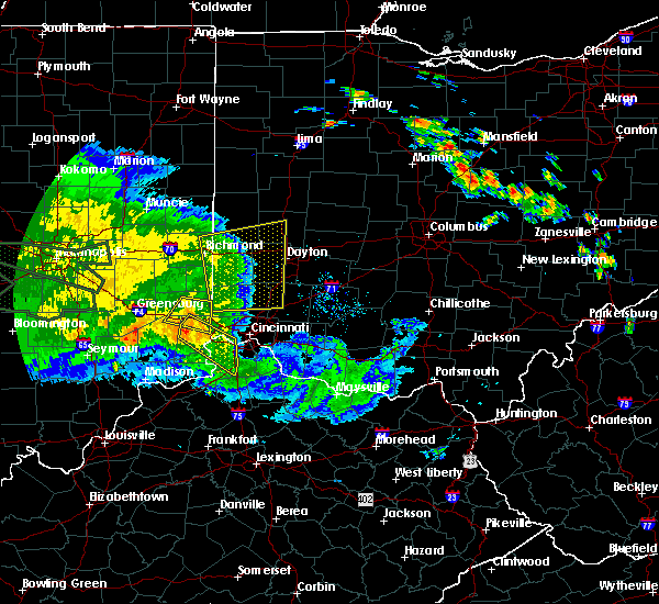 Radar Image for Severe Thunderstorms near Fairfield, OH at 7/11/2017 2:31 PM EDT