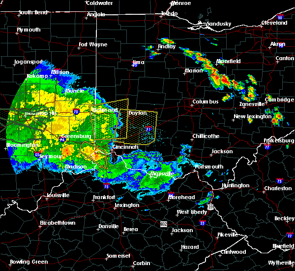 Radar Image for Severe Thunderstorms near Dayton, OH at 7/11/2017 2:44 PM EDT