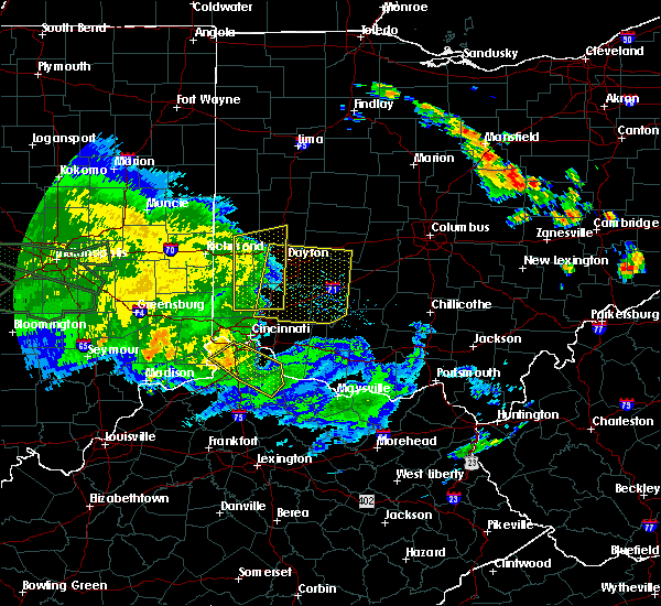 Radar Image for Severe Thunderstorms near Dayton, OH at 7/11/2017 2:55 PM EDT