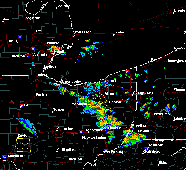 Radar Image for Severe Thunderstorms near North Lawrence, OH at 7/11/2017 3:56 PM EDT