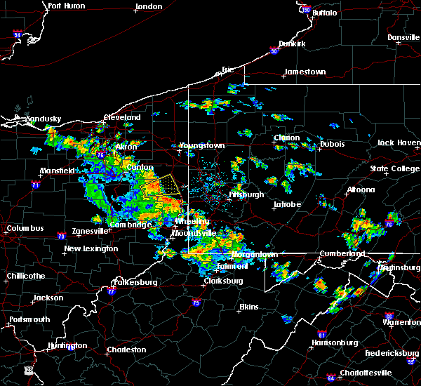 Radar Image for Severe Thunderstorms near Lisbon, OH at 7/11/2017 4:42 PM EDT