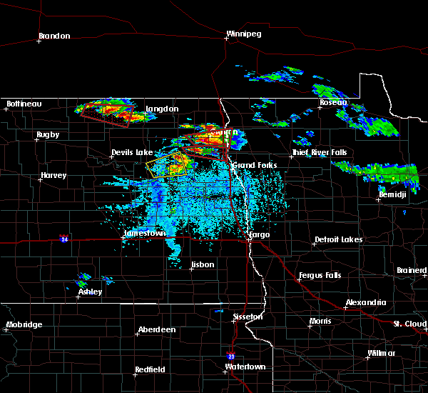 Radar Image for Severe Thunderstorms near Michigan City, ND at 7/11/2017 5:41 PM CDT