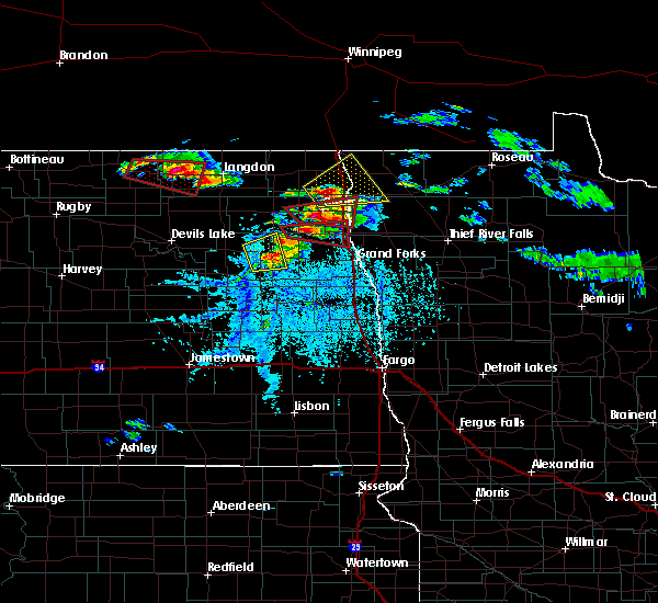 Radar Image for Severe Thunderstorms near Grand Forks AFB, ND at 7/11/2017 5:50 PM CDT