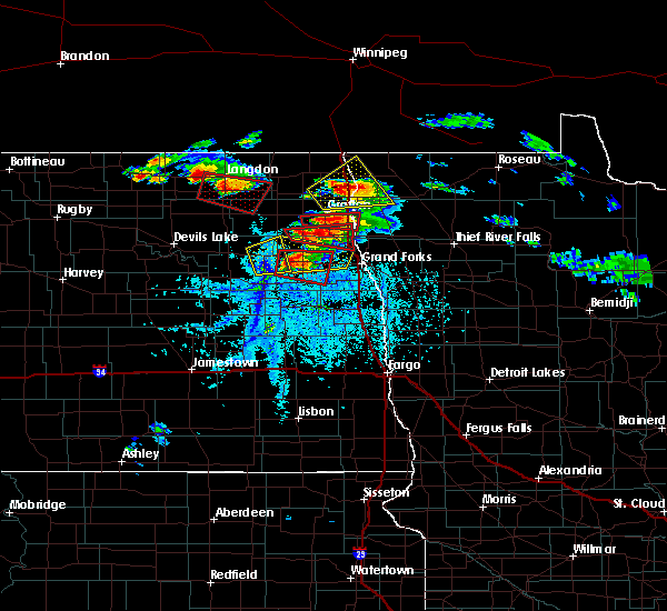 Radar Image for Severe Thunderstorms near Grand Forks AFB, ND at 7/11/2017 6:04 PM CDT