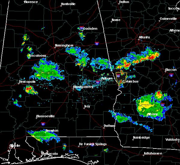 Radar Image for Severe Thunderstorms near Columbus, GA at 7/11/2017 7:40 PM EDT