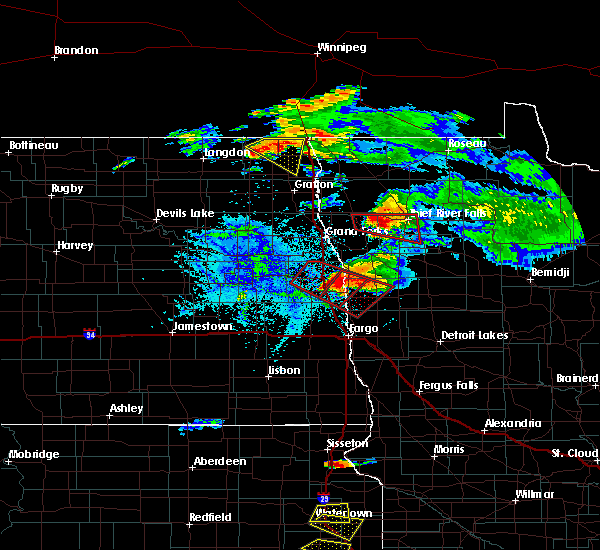Radar Image for Severe Thunderstorms near Ada, MN at 7/11/2017 8:02 PM CDT