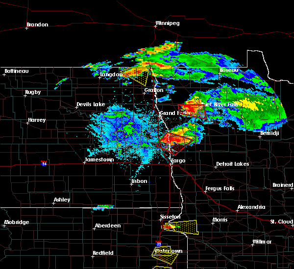 Radar Image for Severe Thunderstorms near Ada, MN at 7/11/2017 8:09 PM CDT
