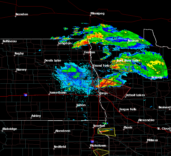 Radar Image for Severe Thunderstorms near Ada, MN at 7/11/2017 8:37 PM CDT