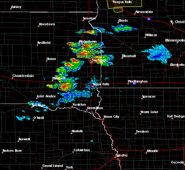 Radar Image for Severe Thunderstorms near Gary, SD at 7/11/2017 9:47 PM CDT