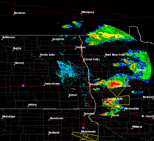 Radar Image for Severe Thunderstorms near Perham, MN at 7/11/2017 9:52 PM CDT