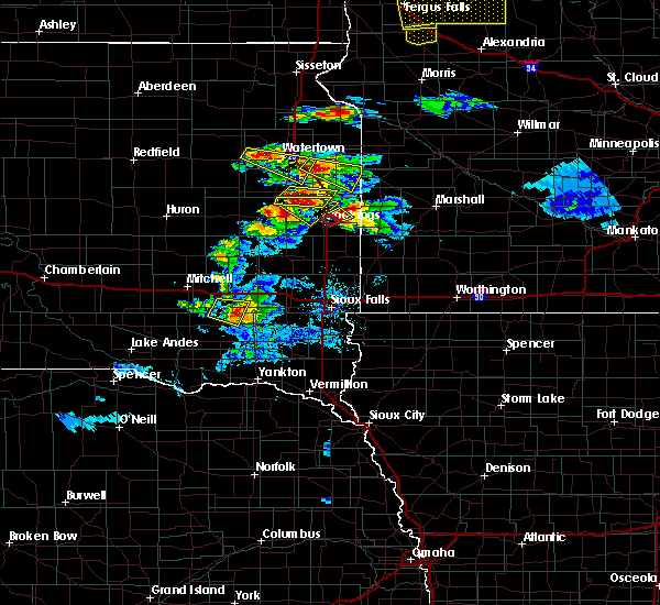Radar Image for Severe Thunderstorms near Gary, SD at 7/11/2017 9:59 PM CDT