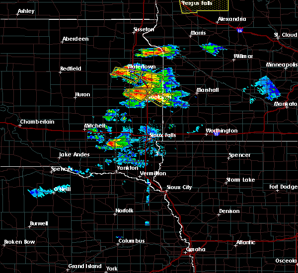 Radar Image for Severe Thunderstorms near Gary, SD at 7/11/2017 10:15 PM CDT