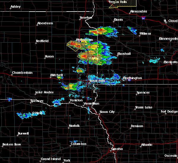 Radar Image for Severe Thunderstorms near Bruce, SD at 7/11/2017 10:30 PM CDT
