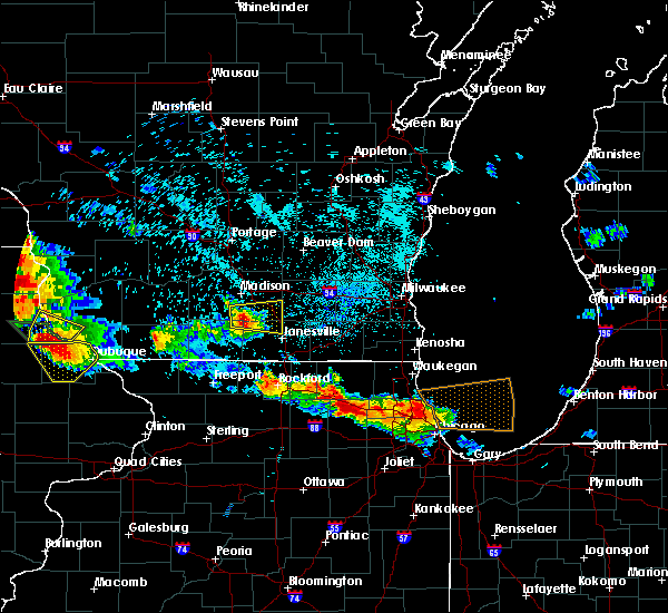 Radar Image for Severe Thunderstorms near Stoughton, WI at 7/11/2017 10:34 PM CDT