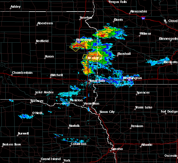 Radar Image for Severe Thunderstorms near Brookings, SD at 7/11/2017 10:52 PM CDT
