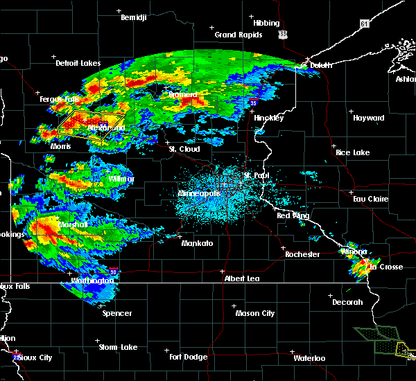 Radar Image for Severe Thunderstorms near Forada, MN at 7/12/2017 12:02 AM CDT