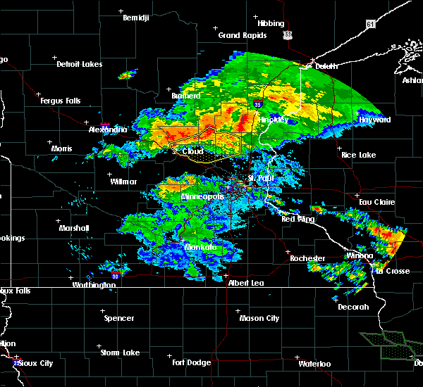 Radar Image for Severe Thunderstorms near St. Francis, MN at 7/12/2017 1:50 AM CDT