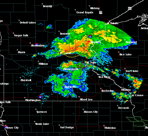 Radar Image for Severe Thunderstorms near St. Francis, MN at 7/12/2017 2:02 AM CDT
