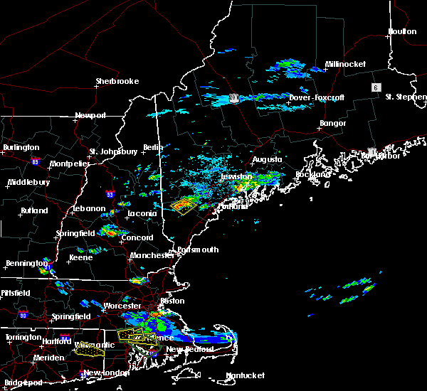 Radar Image for Severe Thunderstorms near Standish, ME at 7/12/2017 3:50 PM EDT