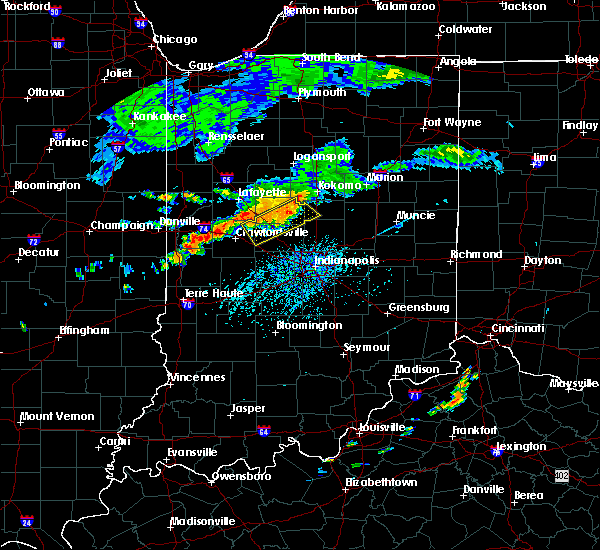 Radar Image for Severe Thunderstorms near Darlington, IN at 7/12/2017 4:24 PM EDT