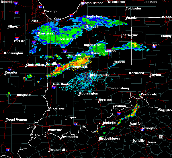 Radar Image for Severe Thunderstorms near Darlington, IN at 7/12/2017 4:37 PM EDT