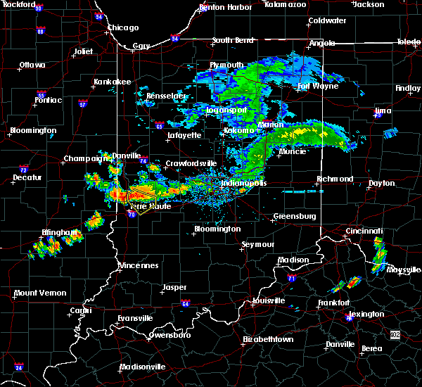 Radar Image for Severe Thunderstorms near Mecca, IN at 7/12/2017 6:03 PM EDT