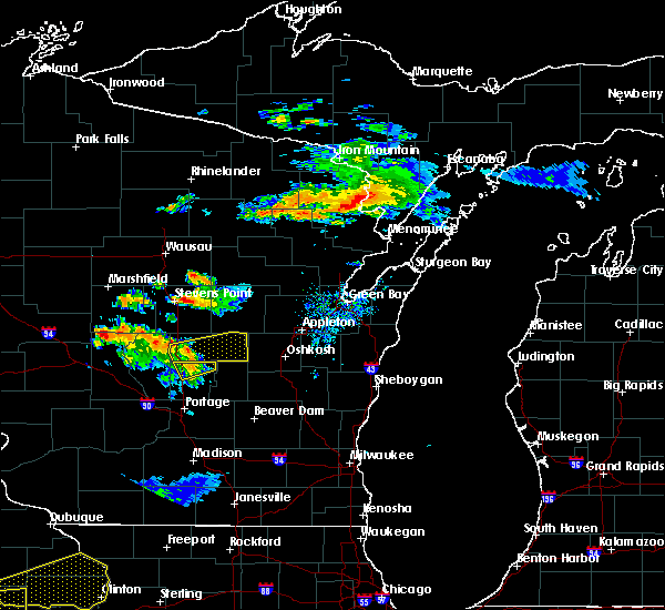 Radar Image for Severe Thunderstorms near Hancock, WI at 7/12/2017 8:15 PM CDT