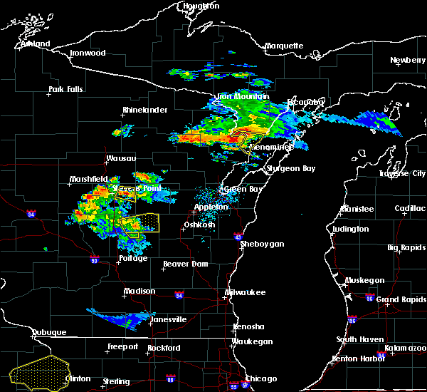 Radar Image for Severe Thunderstorms near Amherst, WI at 7/12/2017 8:31 PM CDT