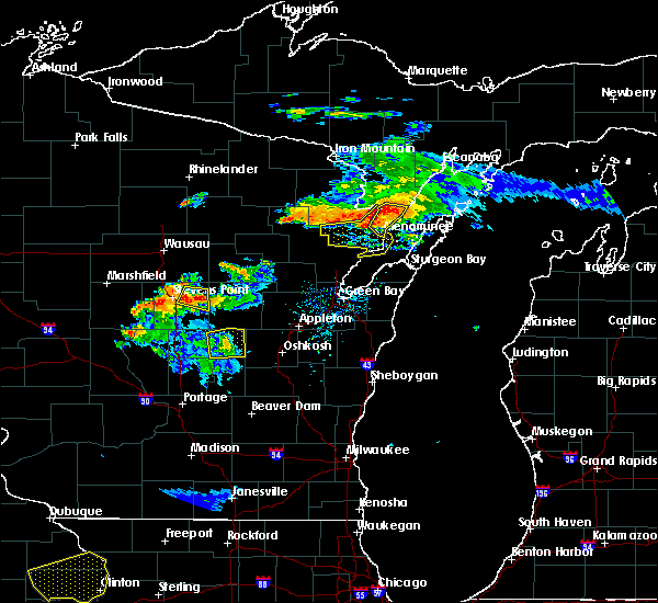 Radar Image for Severe Thunderstorms near Amherst, WI at 7/12/2017 8:43 PM CDT