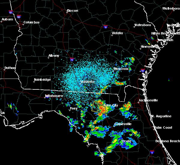 Radar Image for Severe Thunderstorms near Lake City, FL at 7/13/2017 3:00 PM EDT