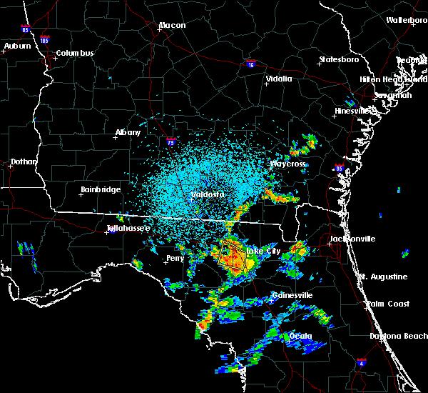 Radar Image for Severe Thunderstorms near Lake City, FL at 7/13/2017 3:14 PM EDT