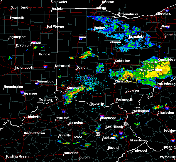 Radar Image for Severe Thunderstorms near Logan, OH at 7/13/2017 3:35 PM EDT