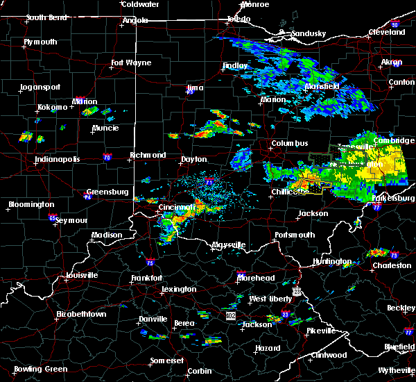 Radar Image for Severe Thunderstorms near Logan, OH at 7/13/2017 3:48 PM EDT